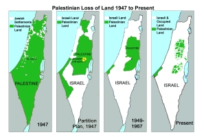 Loss of Palestinian land due to illegal settlement expansion and occupation.